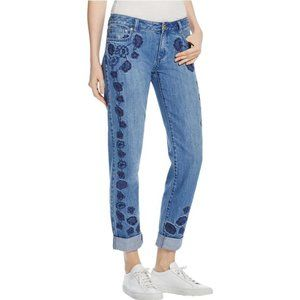Michael Kors Dillon Floral Embroidered Jeans